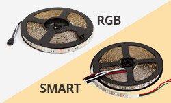 Diferencia entre las tiras LED SMART y tiras LED RGB ordinarias