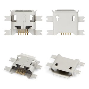 Charge Connector for Tablets; Cell Phones, (5 pin, micro USB type-B, type 3)