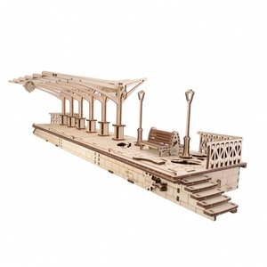 Mechanical 3D Puzzle UGEARS Railway Platform