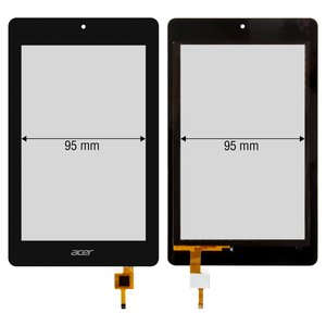 Touchscreen for Acer Iconia One 7 B1-730HD Tablet, (black)