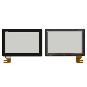 Cristal táctil para tablet PC Asus Eee Pad TF300, Eee Pad TF301, negro,  (versión G01), #69.10I21.G01