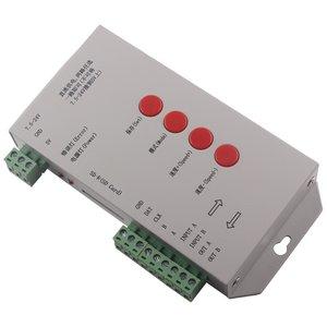 Контроллер RGB T-1000S (с поддержкой DMX 512, WS2811, WS2801, WS2812B, 15 A, SD-карта)