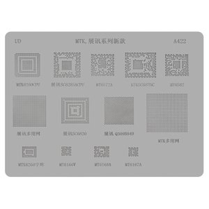 BGA-трафарет A422 для мобильного телефона China-phone universal, MT6572A, SC6825C, MT6582, MT6166, 13 in 1