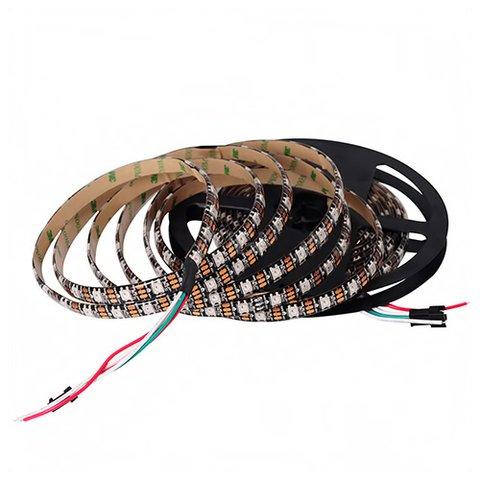 Світлодіодна стрічка RGB SMD5050, WS2812B (з управлінням, IP65, 5 В, 60 діодів/м, 1 м)