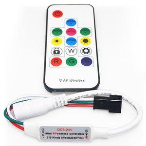 Контролер з РЧ пультом SP103E (RGB, WS2801, WS2811, WS2812, WS2813 5-24 В)